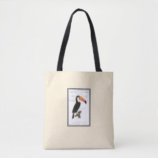 Yellow & white totebag  w/ Vintage graphics Tote Bag