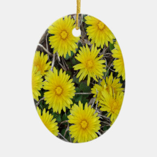 Yellow Wild Flowers Christmas Ornament