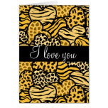 Yellow Wild hearts i Love you Greeting Card