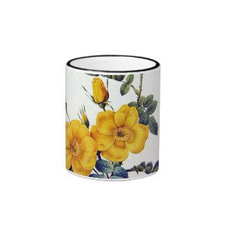 Yellow Wild Roses, Pierre Joseph Redouté Ringer Mug