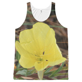 Yellow Wildflower All-Over Print Tank Top