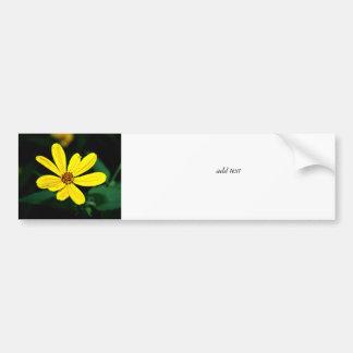 Yellow Wildflower Bumper Sticker
