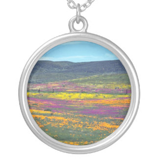Yellow Wildflower field flowers Personalized Necklace