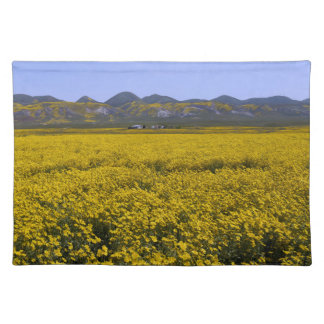 Yellow Wildflower Field Landscape Placemat