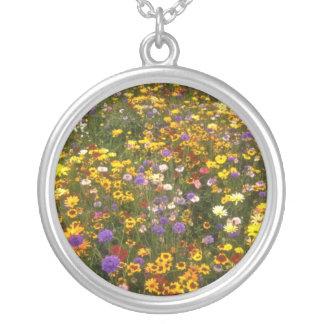 Yellow Wildflowers flowers Pendant