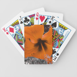 yellow wiled hibiscus poker deck