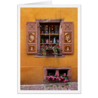 Yellow Window Card