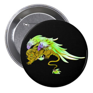 Yellow Winged Drake Button