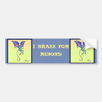 Yellow Winged Monkey Rebob Napa Purple Blue Cute Bumper Sticker