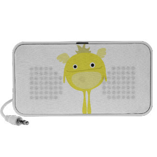 Yellow Winged Monster Doodle Mp3 Speakers