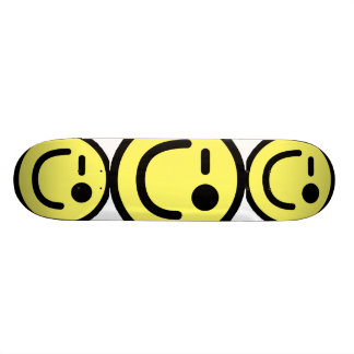 Yellow Winking Smiley Face Skateboards