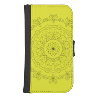 yellow with black pattern samsung s4 wallet case