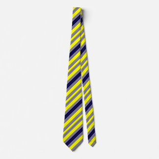 yellow with blue stripe tie