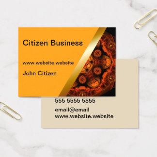 Yellow with orange kaleidoscope business card 4