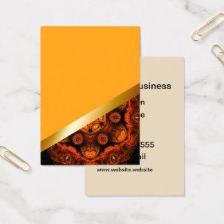 Yellow with orange kaleidoscope business card 7