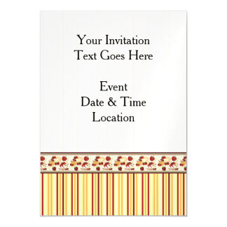 Yellow With Orange Stripes Pattern With Border Magnetic Card