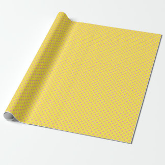 Yellow with Pink Polka Dot Wrapping Paper