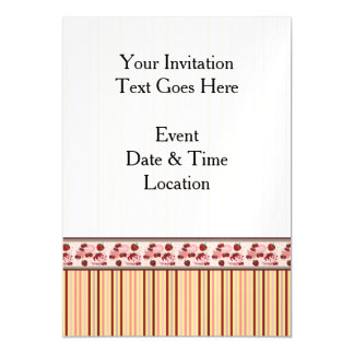 Yellow With Pink Stripes Pattern With Border Magnetic Card