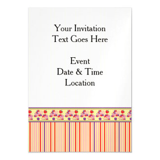 Yellow With Red Stripes Pattern With Border Magnetic Card