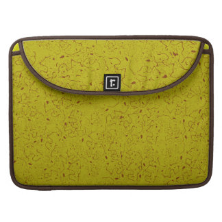 YELLOW WITH RUST SWIRLS SLEEVES FOR MacBook PRO