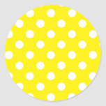 Yellow with White Polka Dots