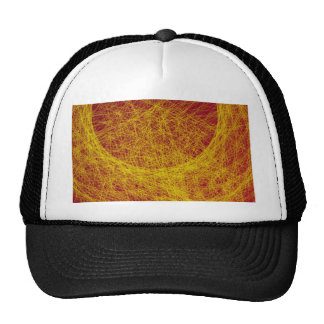 yellow  wood abstract art mesh hats