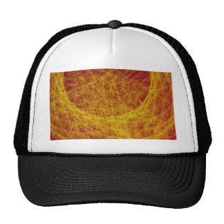 yellow wood abstract art mesh hats