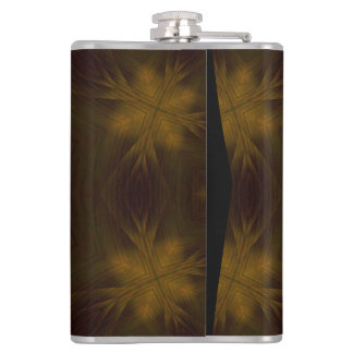 Yellow Wood Pattern Hip Flask