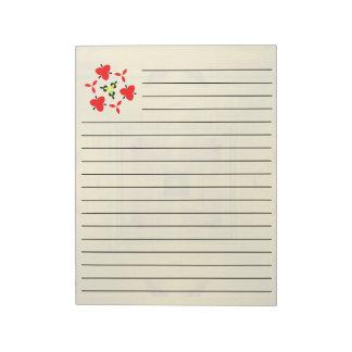 Yellow Wood Pattern Notepad
