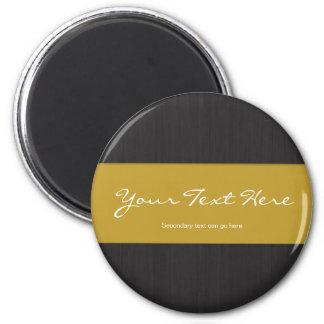 Yellow & Woodgrain Customizable Magnet