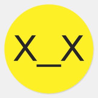 Yellow x_x Dead Emoticon Stickers