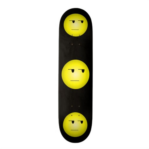 Yellow Yeah Right Smiley Skateboard Deck