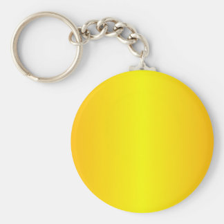 Yellow - Yellow and Chrome Yellow Basic Round Button Key Ring