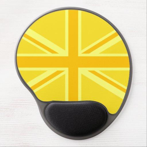 Yellow Yellow Union Jack British Flag Background Gel Mouse Pad