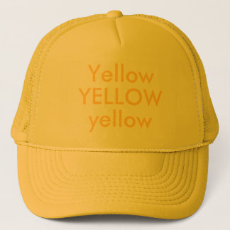 YELLOW, yellow, Yellow Trucker Hat
