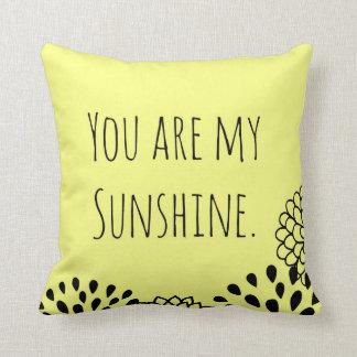 Yellow You Are My Sunshine Cushion