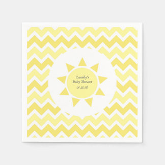 Yellow You are my sunshine theme party Paper Serviettes