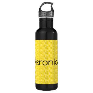 Yellow Zebra Print Pattern Personalize 710 Ml Water Bottle