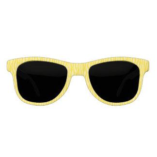Yellow Zebra Print Pattern Stripes Sunglasses