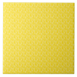 Yellow Zebra Print Pattern Tile