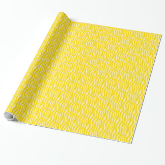 Yellow Zebra Print Pattern Wrapping Paper