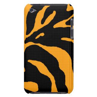 Yellow Zebra Stripe Animal Print iPod Touch Case