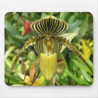 Yellow Zebra Stripes Orchid Mouse Mat