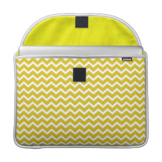 Yellow Zig Zag Chevrons Pattern Sleeve For MacBook Pro
