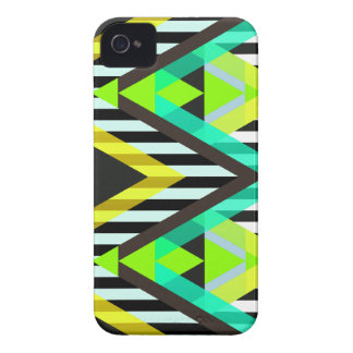 Yellow Zigzag Pop Aztec Case-Mate iPhone 4 Case