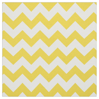 Yellow Zigzag Stripes Chevron Pattern Fabric