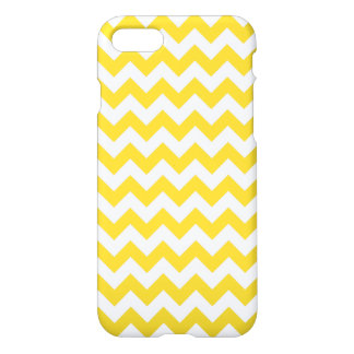 Yellow Zigzag Stripes Chevron Pattern iPhone 7 Case
