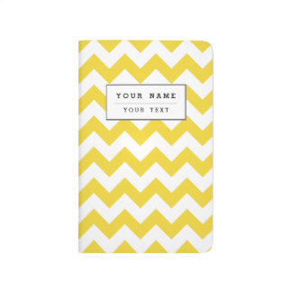 Yellow Zigzag Stripes Chevron Pattern Journal