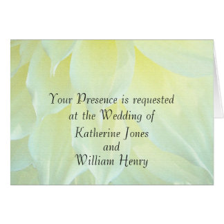 YellowDahlia Flower Floral Wedding Invitation Greeting Card