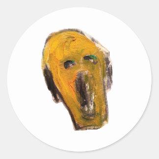 yellowface classic round sticker
